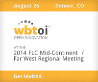 August 26, Denver, CO: WBT Open Innovation at the 2014 FLC Mid-Continent / Far West Regional Meeting. Get Invited.